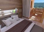 Chambre 3D projet, visuel 3D, Morzine