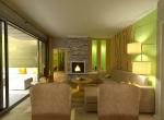 Intérieur 3D design, salon vue 3D