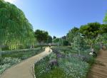 Le jardin de l\'Auzon - Perspective 3D la Coulée Verte à Carpentras - Après travaux
