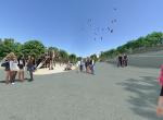 L\'espace Auzon - Perspective 3D la Coulée Verte à Carpentras - Après travaux