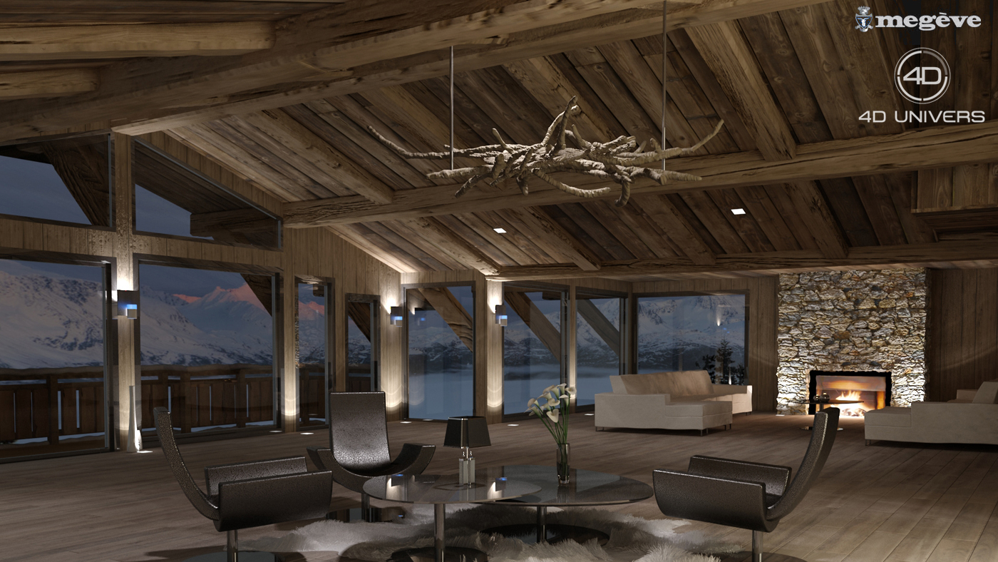 chalet combloux 4d univers studio animation 3d