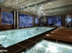 Chalet 3D Princese  intérieur design à Megève, la piscine