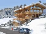 Chalet 3D extérieur hiver Ridley à Megève
