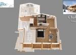 Perspective 3D du Chalet B Niveau 2