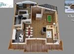 Plan de vente 3D du Chalet D Niveau 2