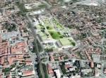 Maquette perspective aérienne 3D, à Ville Fontaine