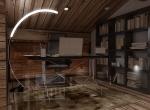 espace bureau 3D, chalet La Blanche
