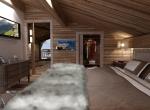 vue de chambre 3D, chalet La Blanche