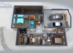 plan de vente 3D, chalet La Blanche