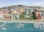 Vue de face PRESQU\'ILE DE LA TOUQUES, Deauville, Animation 3D Deauville