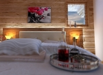 Chambre 3D Perspective intérieur du Chalet Roc de Fer à Saint Martin de Belleville, client Promojay