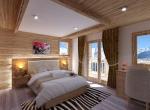 Chambre 3D, Perspective intérieur du Chalet Roc de Fer à Saint Martin de Belleville, client Promojay