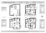 plan d\'architecte Chalet Roc de Fer, 4 Niveaux