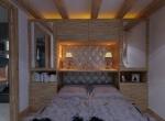 Chambre-1 en 3D,Perspective intérieur du Chalet Roc de Fer à Saint Martin de Belleville, client Promojay