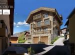 Perspective 3D extérieur du Chalet Roc de Fer à Saint Martin de Belleville, client Promojay