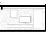 Salon, plan d\'architecte, Chalet Roc de Fer