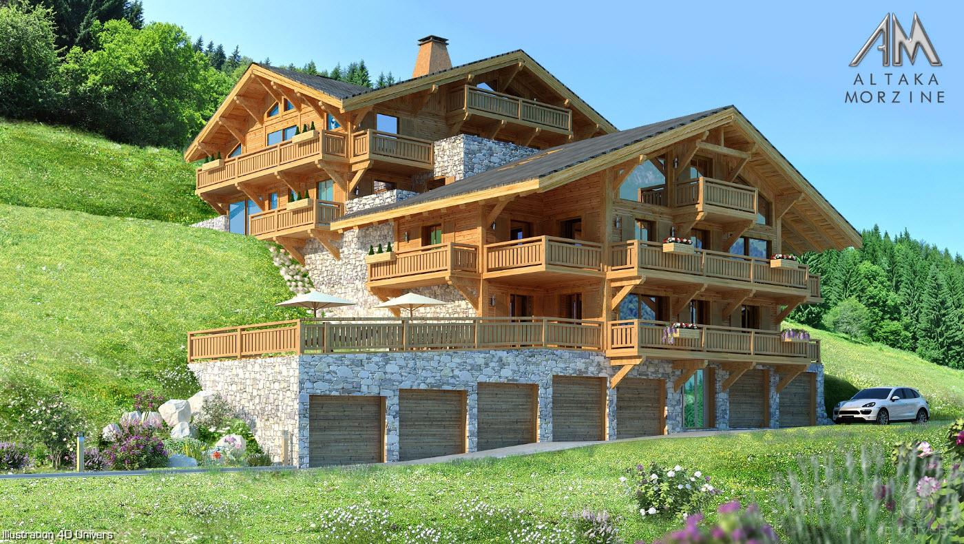 Visite 3d immobilier le chalet roc de fer saint for Chalet exterieur jardin