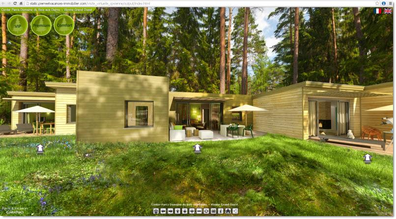 center parcs vienne visite virtuelle 4d univers studio. Black Bedroom Furniture Sets. Home Design Ideas