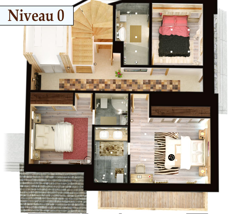 visite 3d immobilier le chalet roc de fer saint martin de belleville client promojay 4d. Black Bedroom Furniture Sets. Home Design Ideas