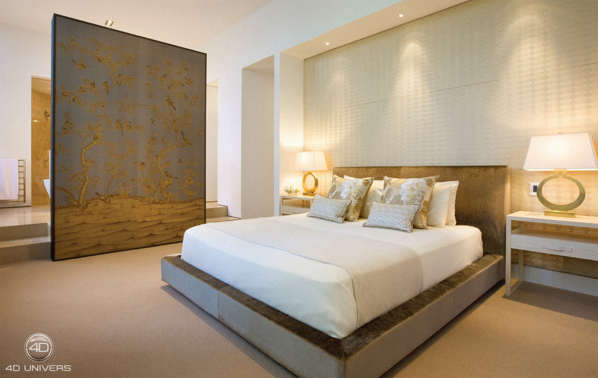 interieur luxe paris 4d univers studio animation 3d architecture 3d visites virtuelles. Black Bedroom Furniture Sets. Home Design Ideas