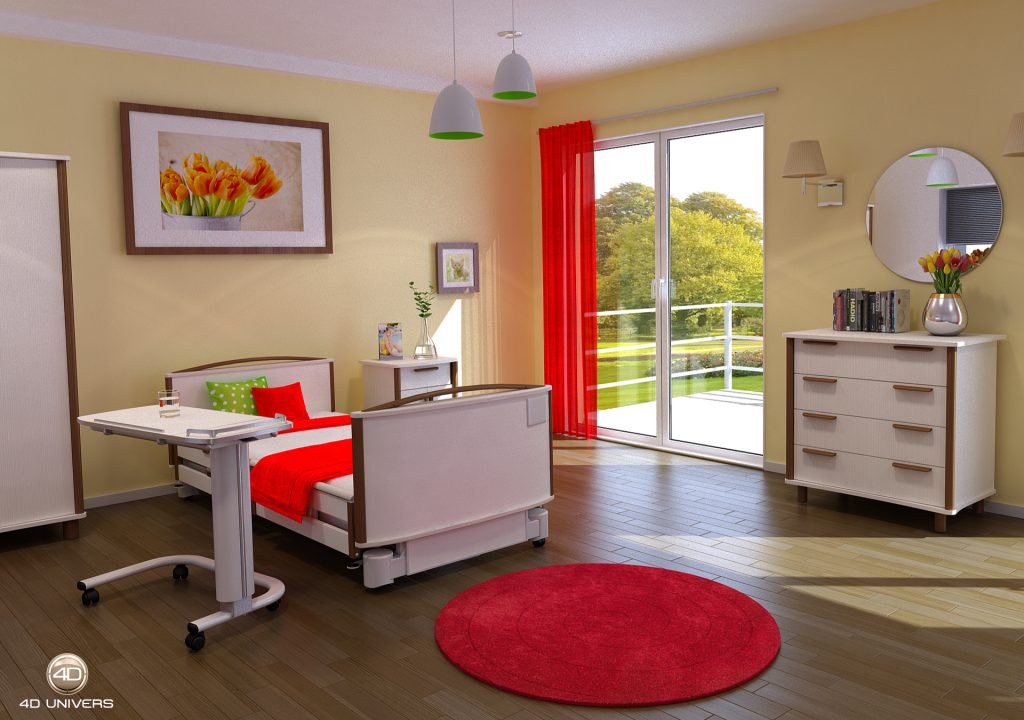 Ahf int rieur 3d mobilier hospitalier 4d univers for Interieur univers