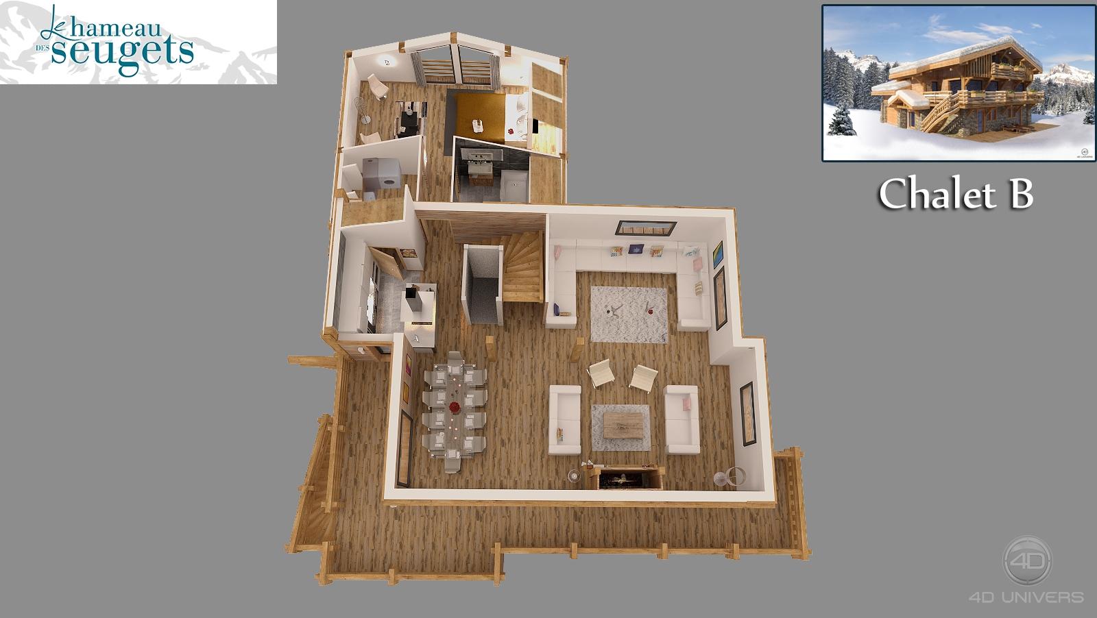 Am nagement int rieur 3d 4d univers studio animation for Amenagement interieur appartement montagne