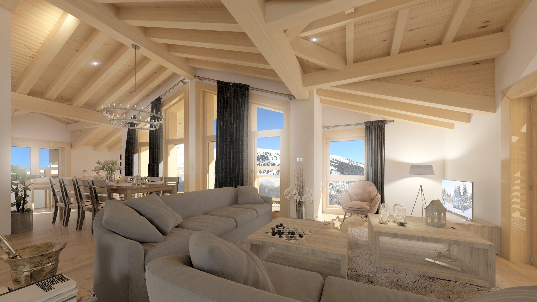chalet les gets 4d univers studio animation 3d. Black Bedroom Furniture Sets. Home Design Ideas